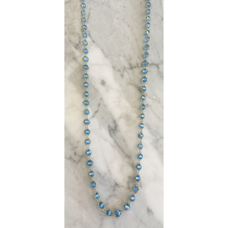 Amali London Blue Topaz Textile Necklace