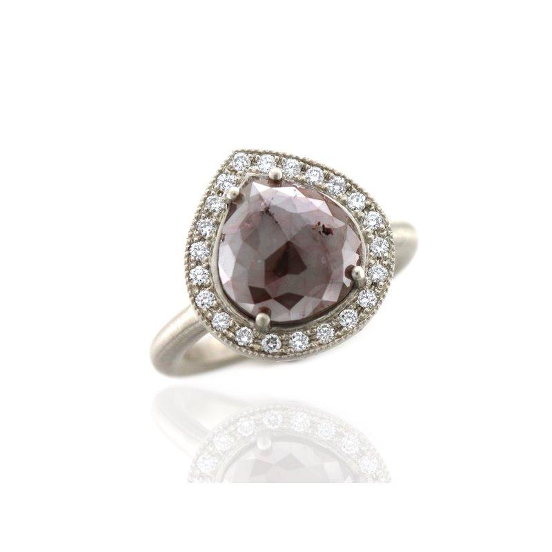 Hurdle's Custom Designs Rose Cut Diamond Halo Ring