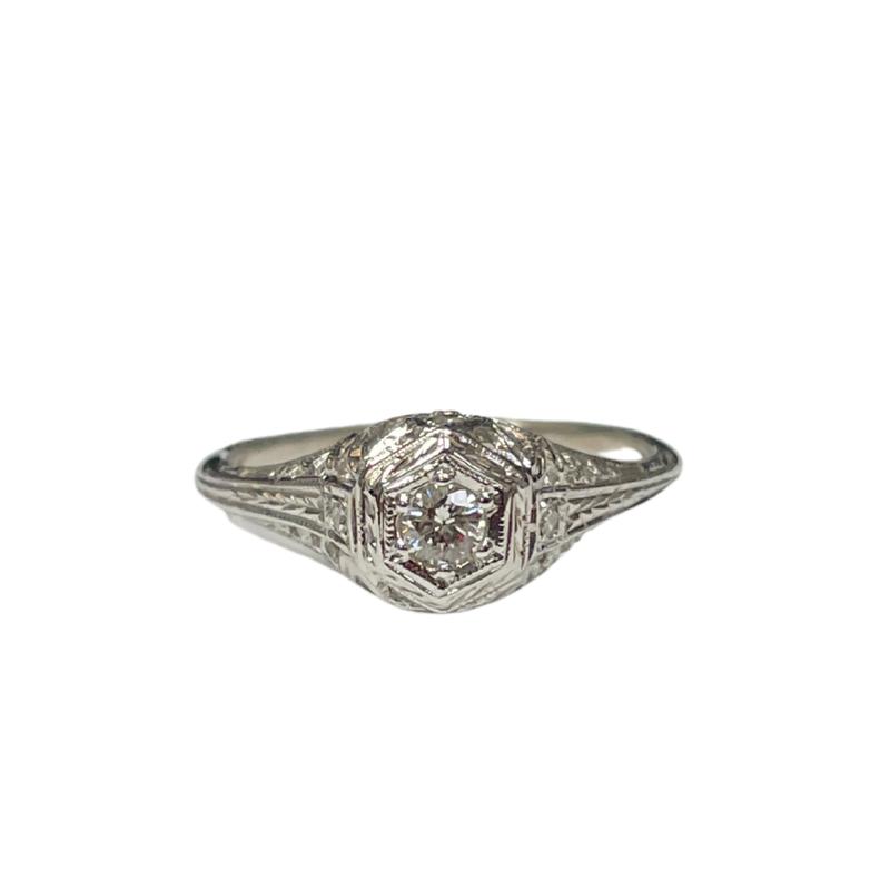 Antique, Estate & Consignment Filigree Diamond Ring
