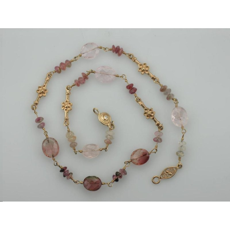 Antique, Estate & Consignment Pink Tourmaline Beaded Necklace