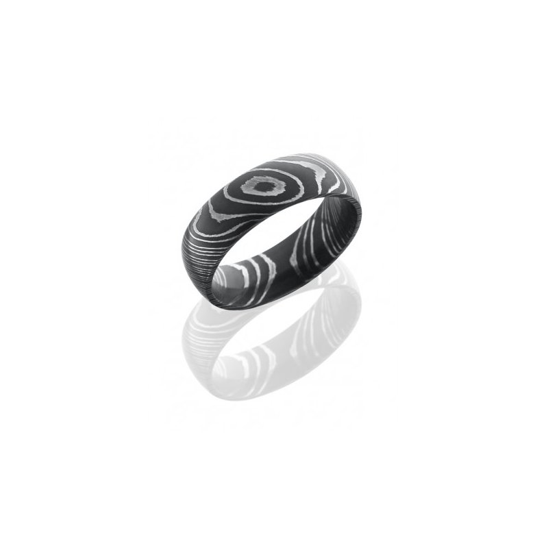 Lashbrook Damascus Steel 7mm Domed Band