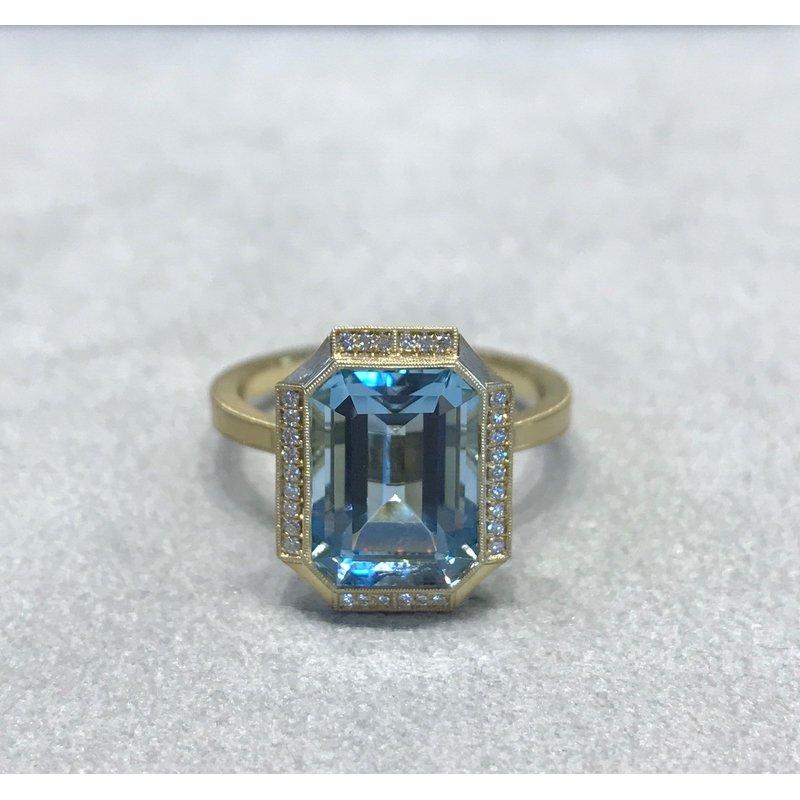 Erika Winters Claudia Aquamarine Ring