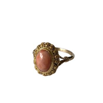 18k/22k Coral Ring