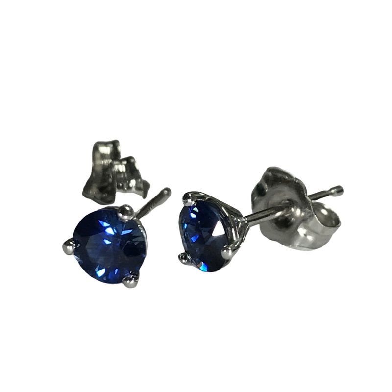 Hurdle's Jewelry Collection 0.82 Carat Sapphire Stud Earrings