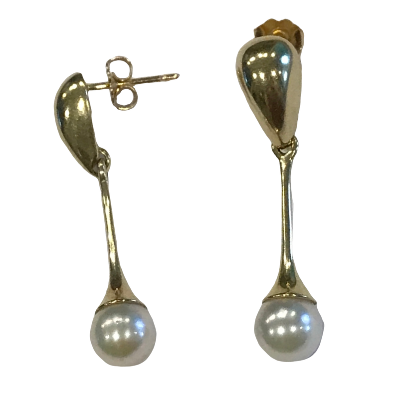 Antique, Estate & Consignment Drop Pearl Earrings