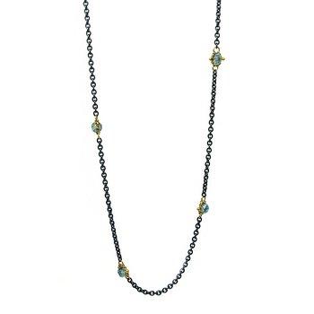 Sapphire Textile Station Necklace