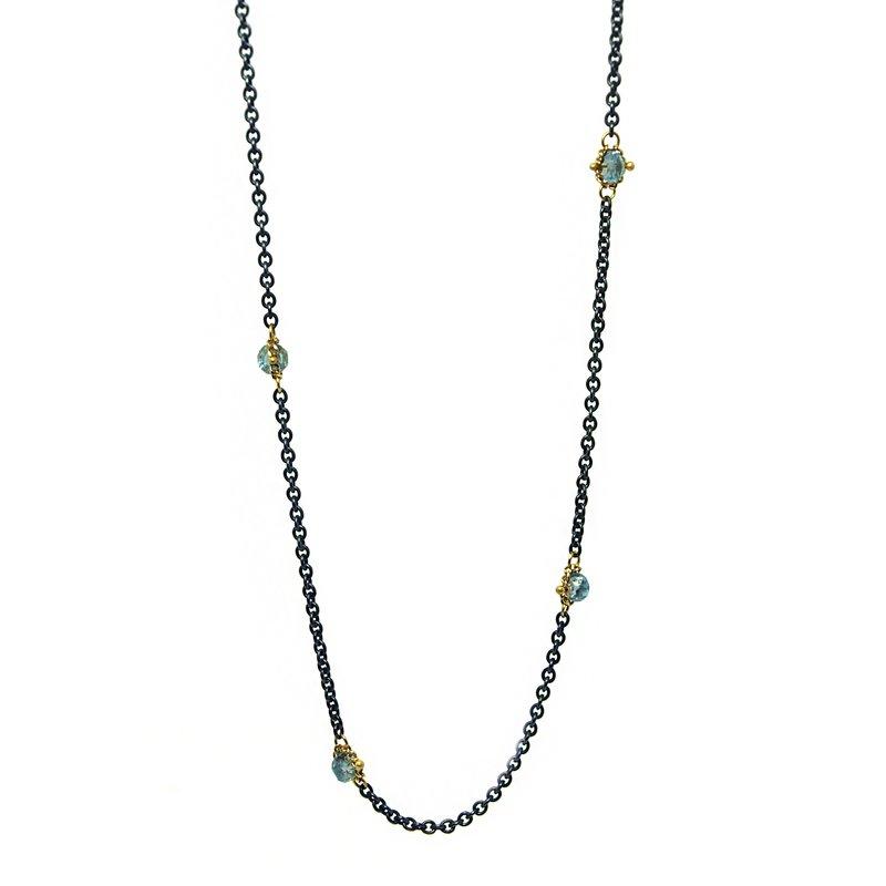 Amali Sapphire Textile Station Necklace
