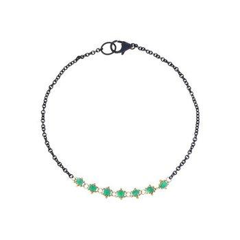 Textile Emerald Station Bracelet