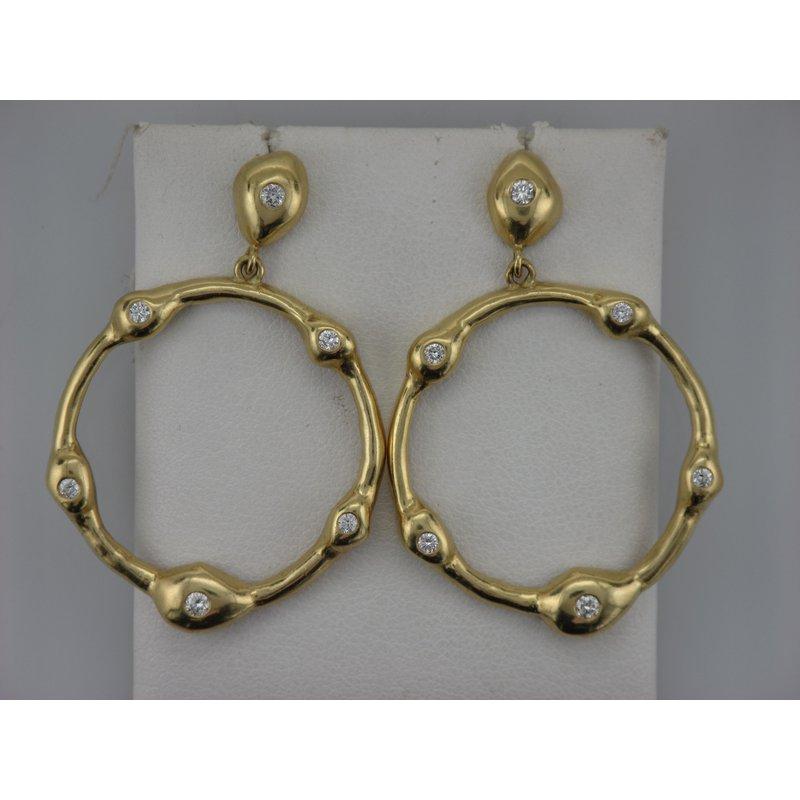 Antique, Estate & Consignment Dangle Circle Diamond Earrings