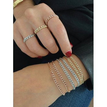 Diamond Mini Curb Chain Bracelet
