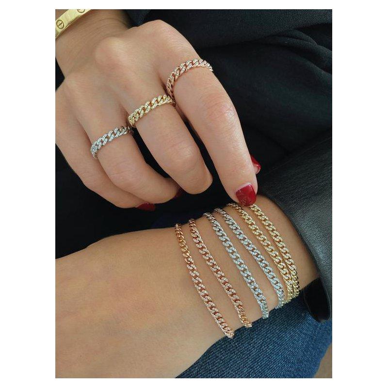 EF Collection Diamond Mini Curb Chain Bracelet