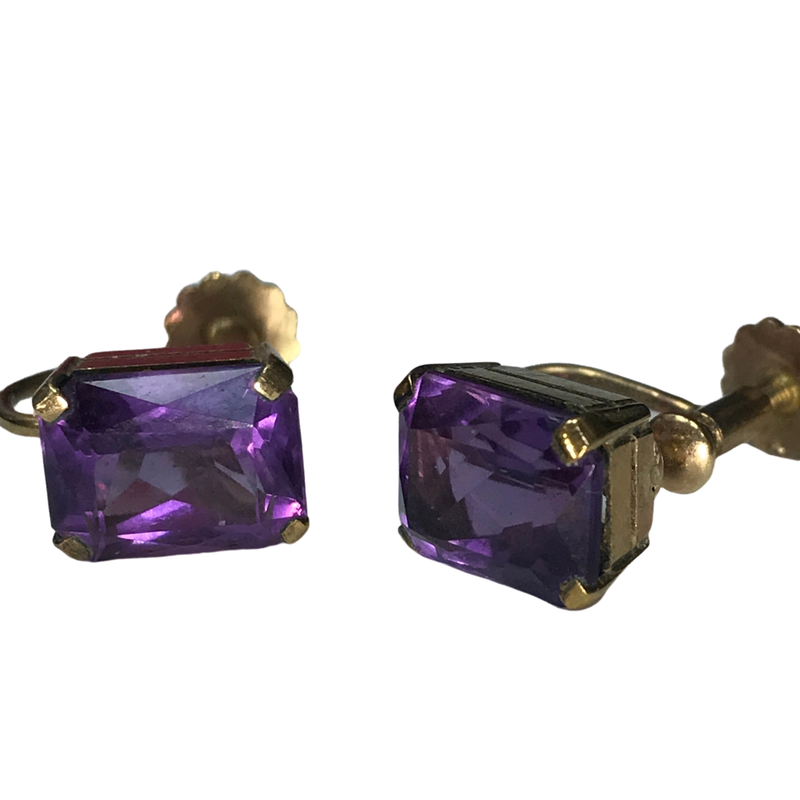 Antique, Estate & Consignment Non-Pierced Amethyst Earrings