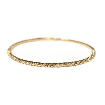 14k Yellow Gold Flexible Tennis Bracelet
