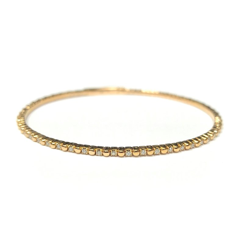 IDD Jewelry 14k Yellow Gold Flexible Tennis Bracelet