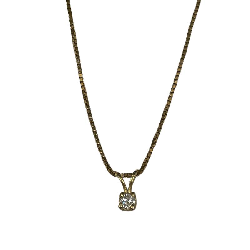 Antique, Estate & Consignment 0.14 Carat Diamond Pendant