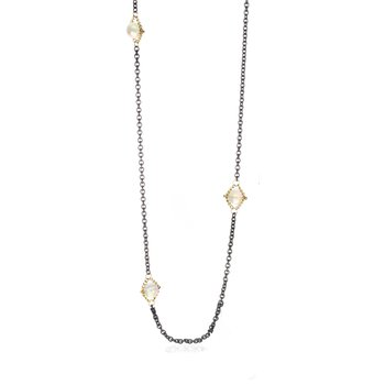 Opal Textile Section Necklace 24""