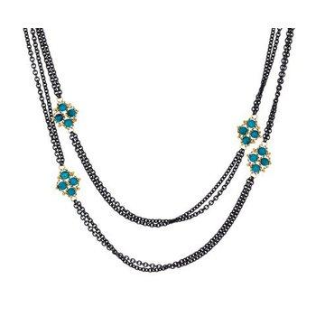 Textile Turquoise Six Station Nacklace