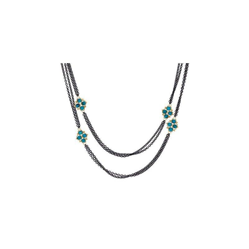 Amali Textile Turquoise Six Station Nacklace