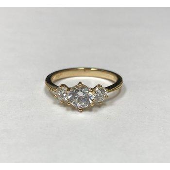 New Classic Bridal Three Stone Diamond Engagement Ring R4687