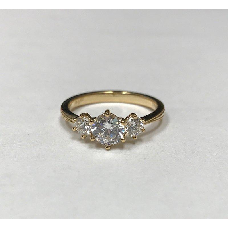 Parade Design New Classic Bridal Three Stone Diamond Engagement Ring R4687