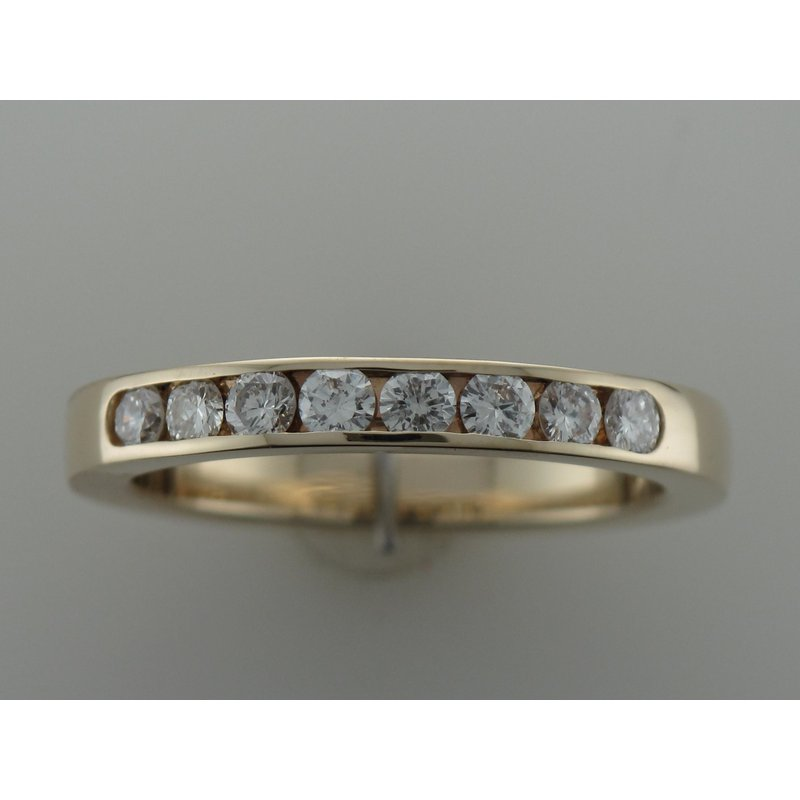 Antique, Estate & Consignment Yellow Gold Diamond Channel Set Band