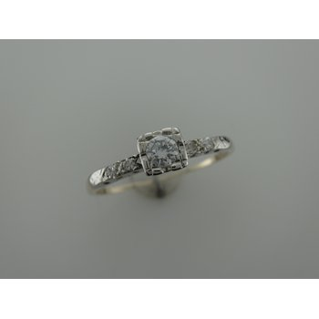Vintage Two Tone Diamond Ring