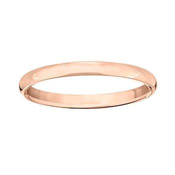 14k Rose Gold 2.5mm Band