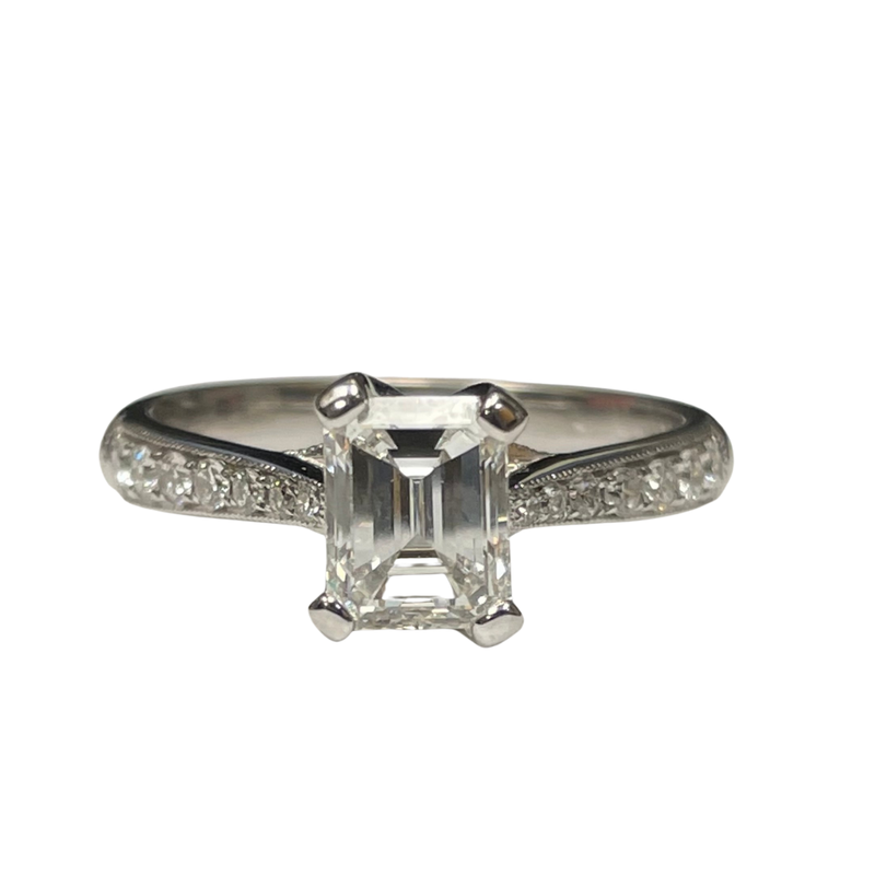 Parade Design Emerald Cut Engagement Ring R2542/E1