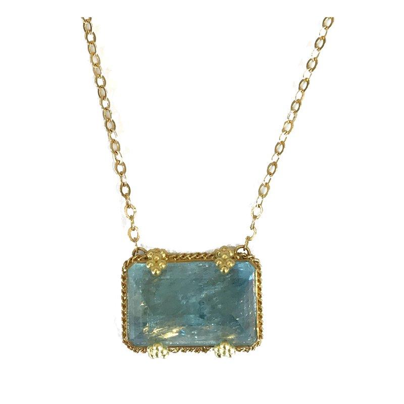 Amali One of a Kind Aqua Necklace