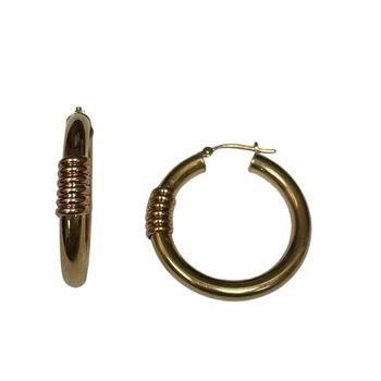 Hoop Earrings with Wrap Design