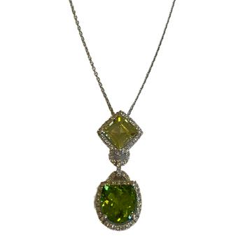 Peridot & Chrysoberyl One of a Kind Necklace