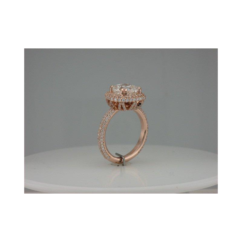 Hurdle's Custom Designs Pink Gold Pave Diamond Ring
