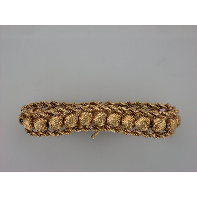 Antique, Estate & Consignment Fluted Bead Gold Bracelet