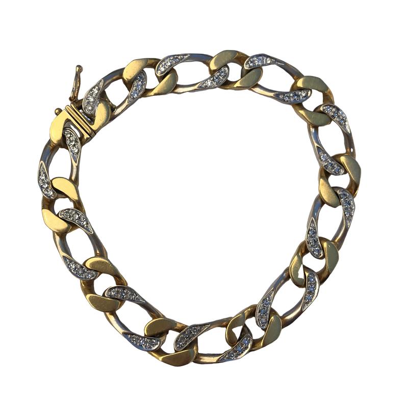 Antique, Estate & Consignment Diamond Curb Link Bracelet