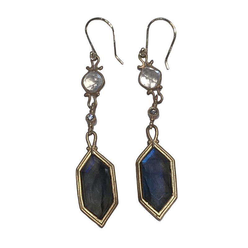 Jennifer Dawes Design Labradorite Drop Earrings