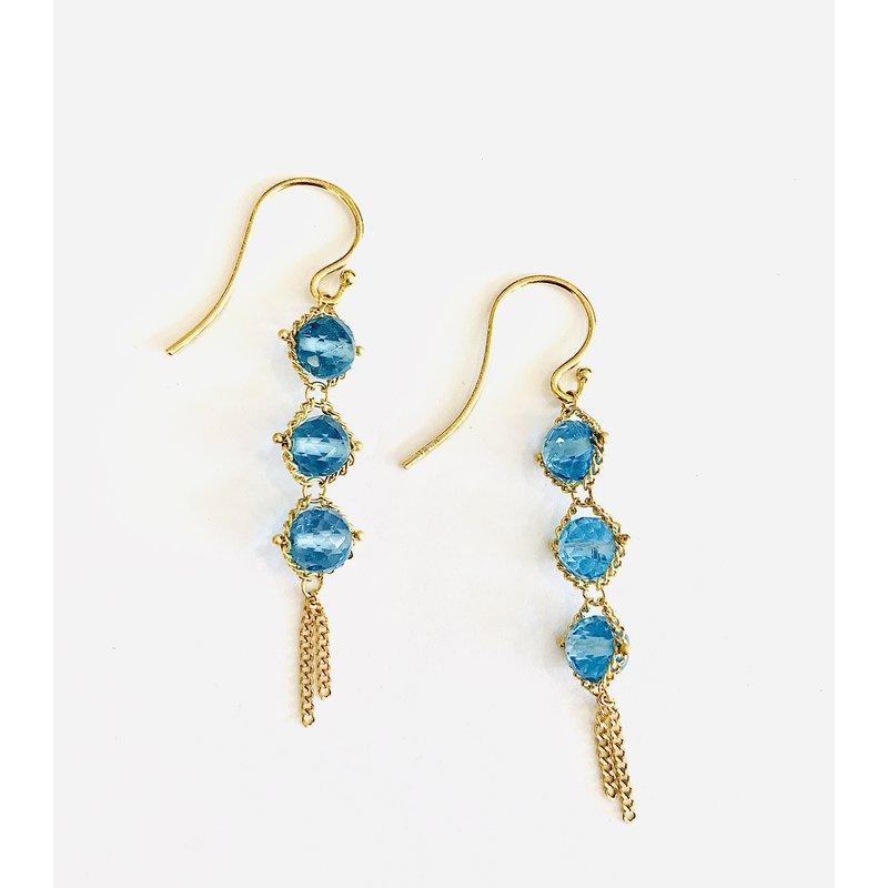 Amali London Blue Topaz Textile Drops