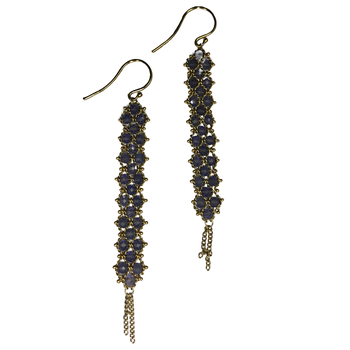 Tanzanite Woven Drop Earrings