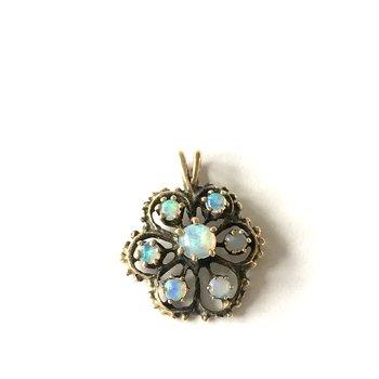 Flower Opal Pendant