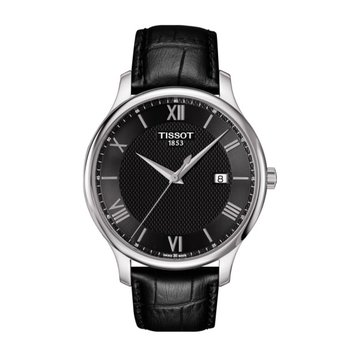 Tradition Black Dial & Leather Strap