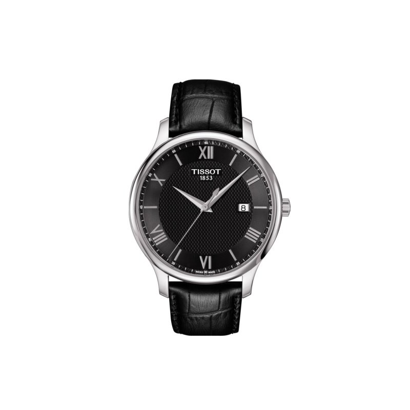 Tissot Tradition Black Dial & Leather Strap