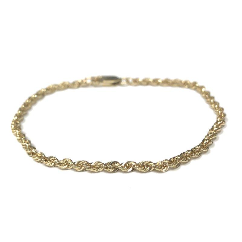 Antique, Estate & Consignment 14k Rope Chain Bracelet