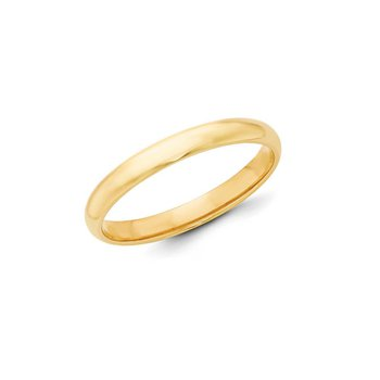 18k Yellow Gold 3mm Band