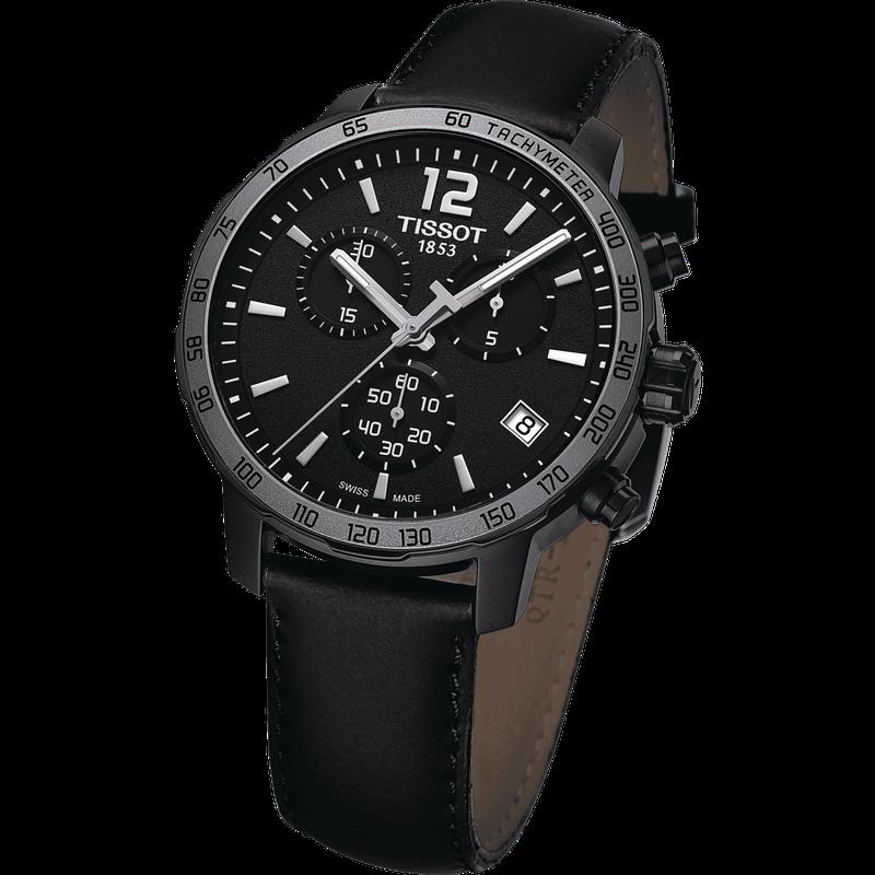 Tissot Black Quickster Chronograph