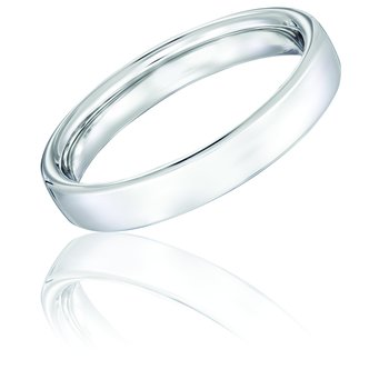 14k White Gold 4mm Band
