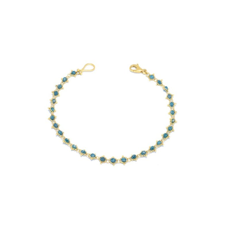 Amali Textile Bracelet in Blue Diamond