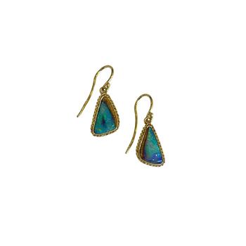 One of a Kind Mini Opal Earrings