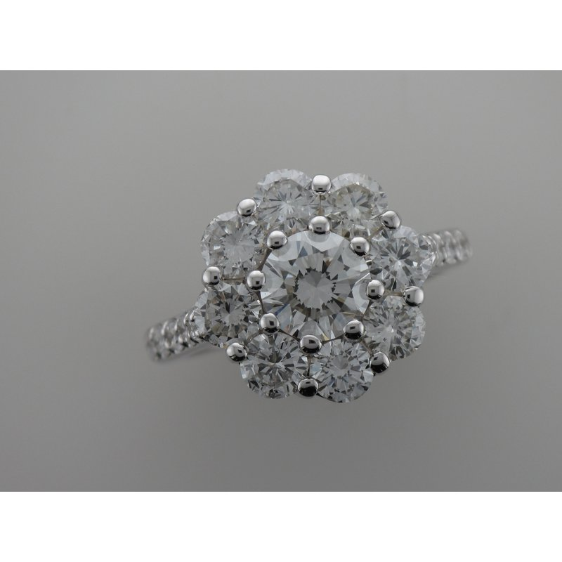 Hurdle's Custom Designs Diamond Halo Engagement Ring