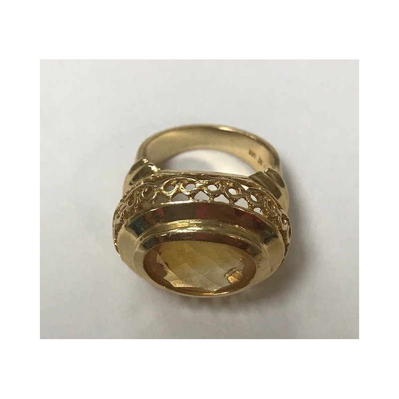 Antique, Estate & Consignment Oval Citrine Cocktail Ring