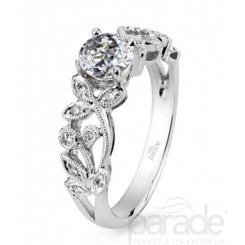 Lyria Bridal Floral Engagement Ring R0926