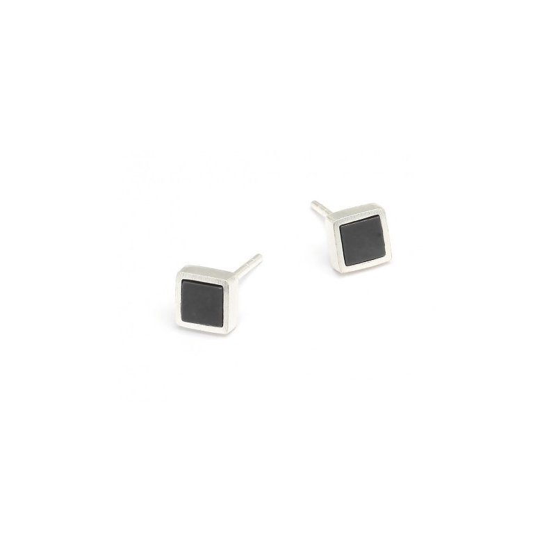 Bernd Wolf Planis Hematite Stud Earrings